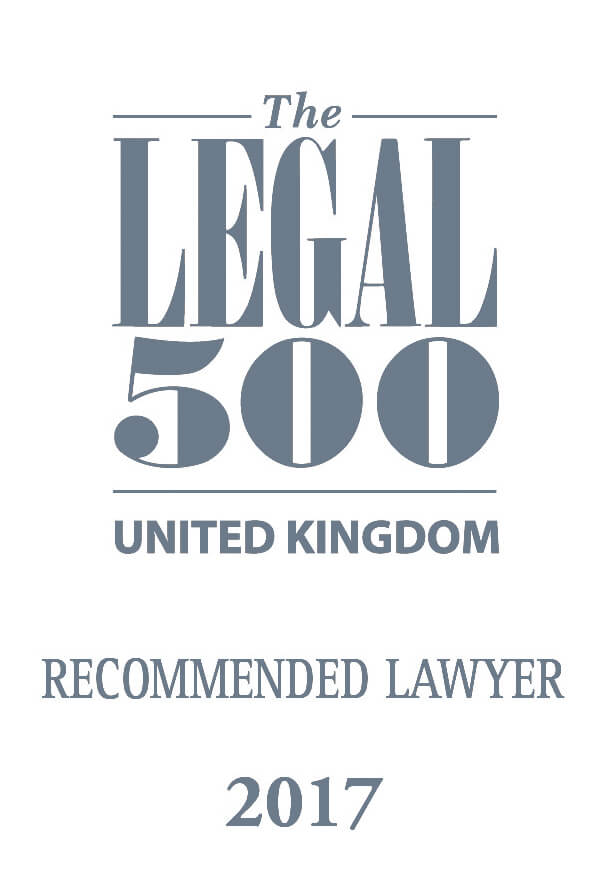 Legal 500 2017: Recommended Lawyer