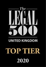 Legal 500 2020: Top Tier Firms